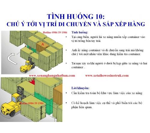 TH10: Chú ý quan sát  vị trí di chuyển và sắp xếp hàng hóa