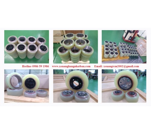 Bánh PU Xe Nâng Điện Đứng Lái Hyundai 10BR-7/ 13BR-7 / 14BR-7 / 15BR-7 / 18BR-7  / 20BR-7 / 25BR-7
