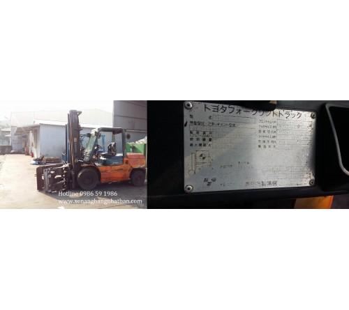 Phục hồi bộ xi lanh càng kẹp giấy xe nâng Toyota 4.5 tấn 7FD45