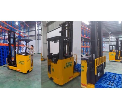 Xe nâng điện đứng lái TCM - Reach Truck - 1.5 tấn - 1.8 tấn - 2 tấn - 2.5 tấn - 3 tấn. Model FR(H)B15/18/20/25/30-8A