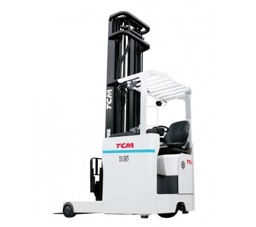 Xe Nâng Điện Ngồi Lái TCM 1.4 tấn - 1.6 tấn - 2 tấn - 2.5 tấn (Reach Truck). Model FRSB14/16/20/25-8A