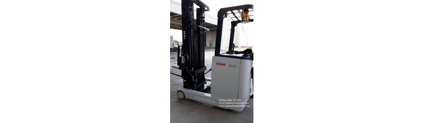 Bàn giao xe nâng điện đứng lái 2 tấn, mới 100%, TCM Nhật Bản 2018