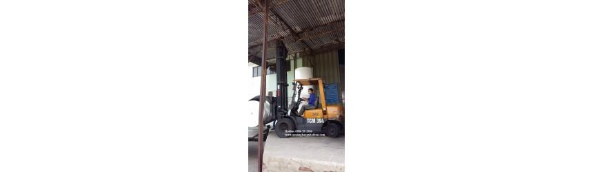 Xe cặp tròn xoay (xe nâng kẹp giấy) 3 tấn, cao 6 mét, 2 tầng nâng tại Hà Nội