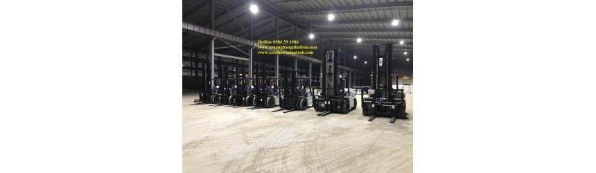 Bàn giao lô 10 xe nâng 6 tấn - 7 tấn - 10 tấn trong T9/2017