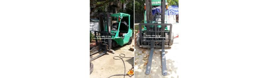 Quy trình đổi lốp hơi sang lốp đặc xe nâng 2.5 tấn, mã lốp 28x9-15 và 600-9