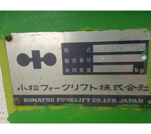 Xe Nâng Cũ 6 Tấn Komatsu - FD60H - S/X 1991