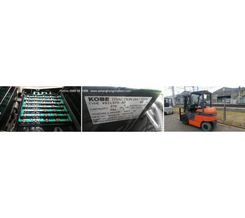 Ắc quy xe nâng 48V 370Ah - Bình điện xe nâng 48V 370Ah - Model VSIL370 - Hitachi Nhật Bản - Sản xuất tại Thái Lan