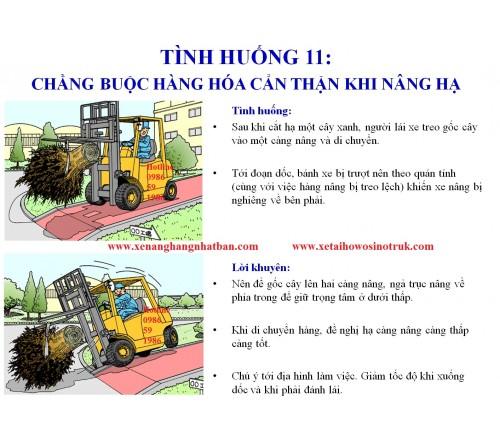 TH11: Chằng buộc hàng hóa cẩn thận khi nâng hạ và di chuyển