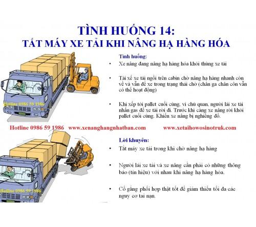 TH14: Nhớ tắt máy xe tải khi đang đóng/rút hàng hóa