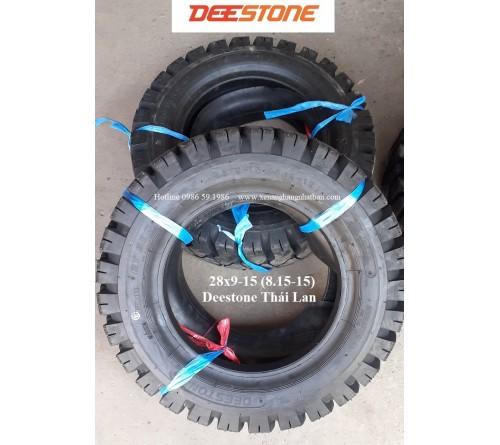 Lốp Deestone 28x9-15 - Lốp Hơi 28x9-15 - Lốp Hơi Xe Nâng 3 Tấn - Hãng Deestone Thái Lan