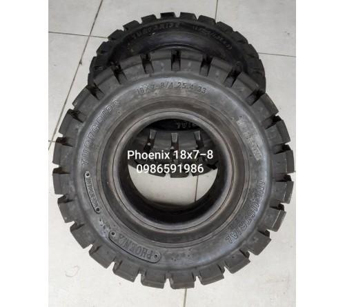 Lốp đặc 18x7-8 Phoenix Thái Lan