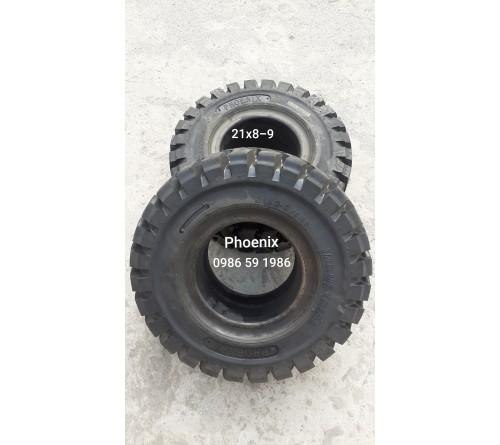 Lốp đặc 21x8-9 Phoenix Thái Lan