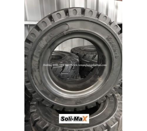 Lốp đặc 15x41/2-8 Soli Max - Sản xuất tại Sri Lanka - Mới 100%