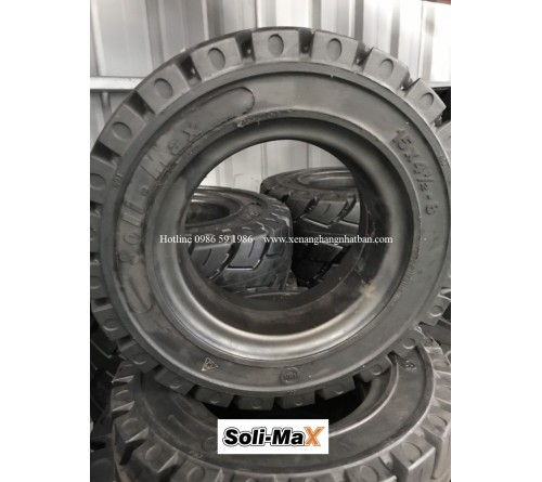 Lốp đặc 18x7-8 Soli Max - Sản xuất tại Sri Lanka - Mới 100%
