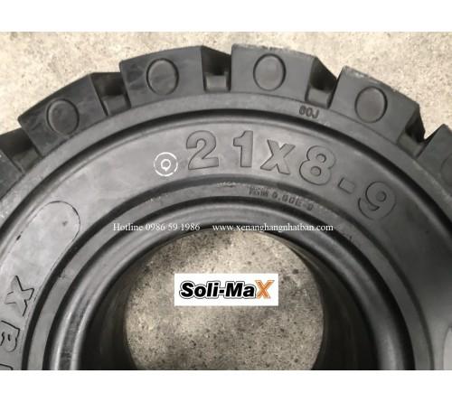 Lốp đặc 21x8-9 Soli Max - Sản xuất tại Sri Lanka - Mới 100%