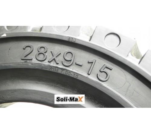 Lốp đặc 28x9-15 Soli Max - Sản xuất tại Sri Lanka - Mới 100%