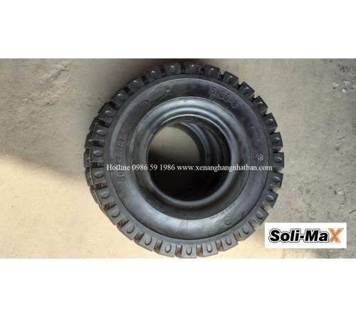 Lốp đặc 5.00-8 Soli Max - Sản xuất tại Sri Lanka - Mới 100%