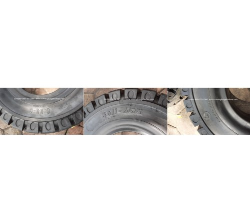 Lốp đặc 6.00-9 Soli Max - Sản xuất tại Sri Lanka - Mới 100%