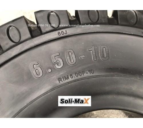 Lốp đặc 6.50-10 Soli Max - Sản xuất tại Sri Lanka - Mới 100%