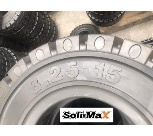 Lốp đặc 8.25-15 Soli Max - Sản xuất tại Sri Lanka - Mới 100%