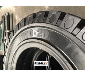 Lốp đặc 9.00-20 Soli Max - Sản xuất tại Sri Lanka - Mới 100%