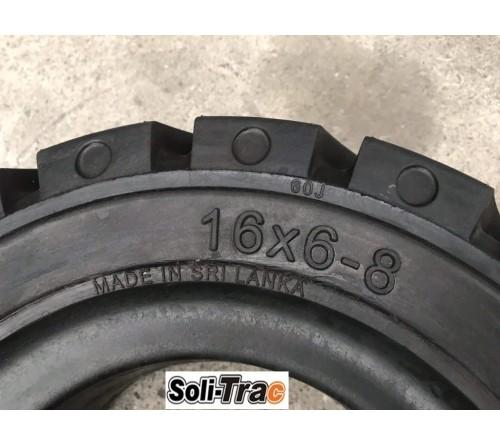 Lốp Đặc 16x6-8 Soli Trac - Sản Xuất Tại Sri Lanka - Mới 100%