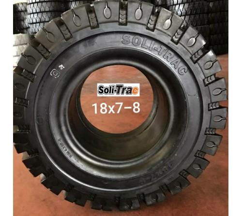 Lốp đặc 18x7-8 Soli Trac - Sản xuất tại Sri Lanka - Mới 100%