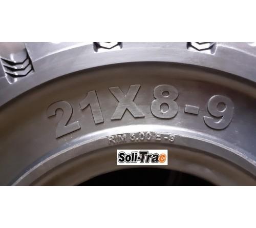 Lốp Đặc 21x8-9 Soli Trac - Sản Xuất Tại Sri Lanka - Mới 100%