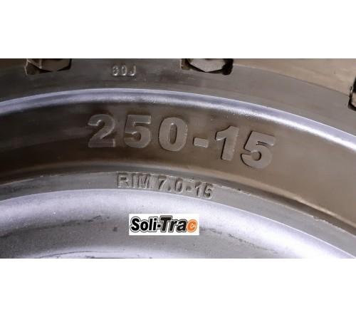 Lốp Đặc 250-15 Soli Trac - Sản Xuất Tại Sri Lanka - Mới 100%