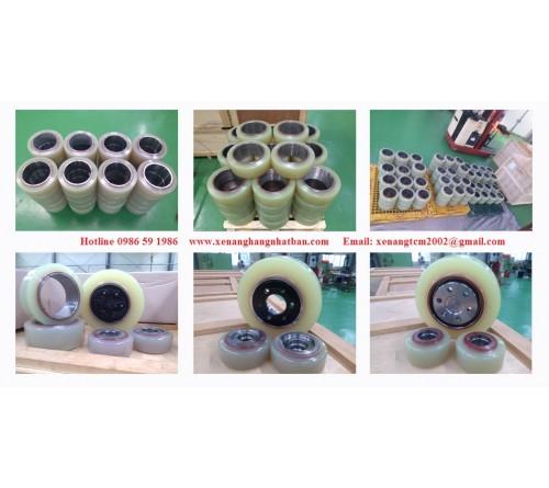 Bánh PU Xe Nâng Điện Đứng Lái Nichiyu FBRM(A)15 - FBRM(A)18 - FBRM(A)20 - FBRM(A)25 - FBRM(A)30