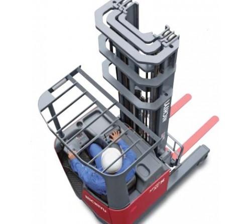 Bánh PU Xe Nâng Điện Ngồi Lái Reach Truck Nichiyu FBRF14 - FBRF16 - FBRF20