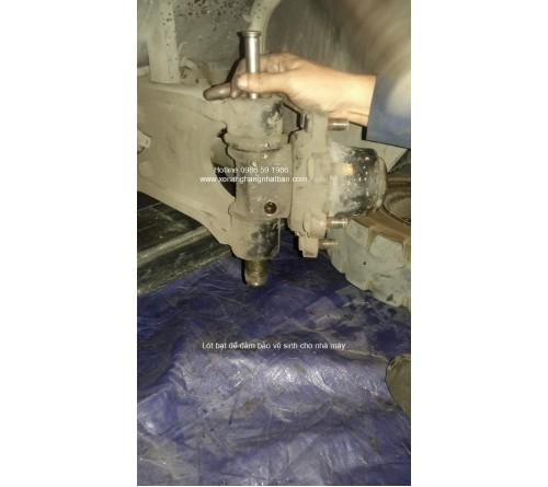 Đại tu sửa chữa cầu sau - khung gầm - khung dí xe nâng 2.5 tấn TCM FD25T3, FD25T3Z, FD25T6