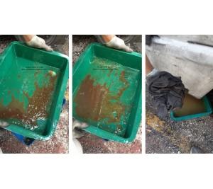 Sục rửa bình dầu diesel xe nâng kẹp giấy 3.5 tấn