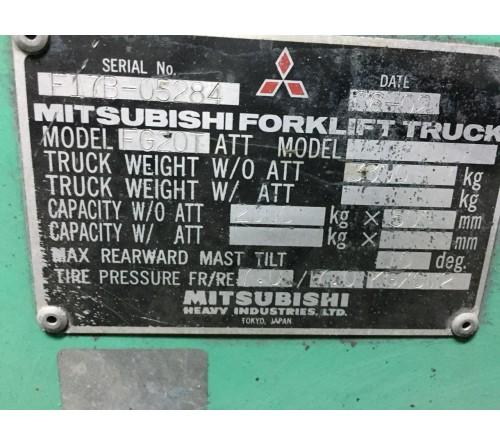 Xe Nâng 2 Tấn Cũ Mitsubishi - Nhật Bản 2006 - FG20T