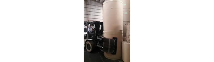 Tư vấn lựa chọn, mua sắm Xe cặp giấy (Xe kẹp giấy tròn xoay) - Paper Roll Clamp Forklift