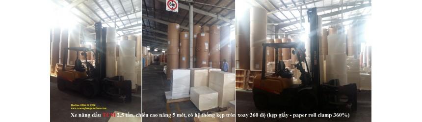 Xe nâng hàng trong ngành sản xuất giấy, bao bì, in ấn
