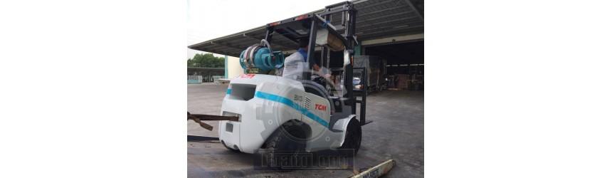 Bàn giao xe nâng xăng ga 3 tấn TCM, model FGE30T3