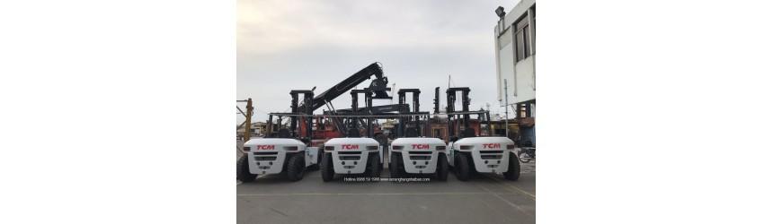 Lô 4 xe nâng 10 tấn TCM, mới 100% cấp cho hệ thống cảng biển 2019