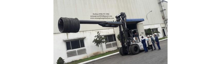 Ban giao xe nang 11.5 tan TCM Nhat Ban tai nha may san xuat thep