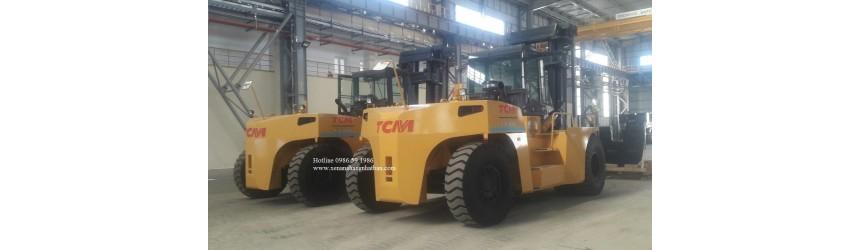 Lô hàng 4 xe nâng 30 tấn TCM Nhật Bản mới 100% tại Việt Nam T8/2018, T9/2018