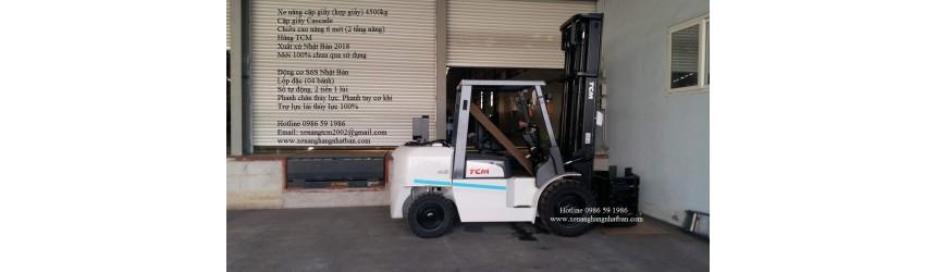 Xe cặp giấy 4.5 tấn TCM Nhật Bản T11.2018 bàn giao khách hàng