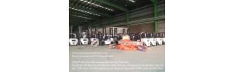 Bàn giao 30 xe nâng cặp giấy 4 tấn, 4.5 tấn, 5 tấn của TCM Nhật Bản tại Việt Nam 2018