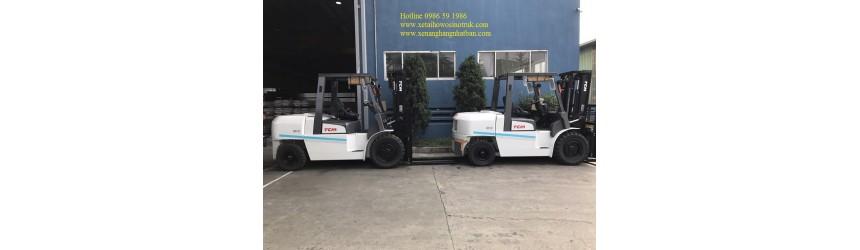 Xe nâng 5 tấn TCM Nhật Bản giao cho Nhà máy Thép Hòa Phát Hưng Yên