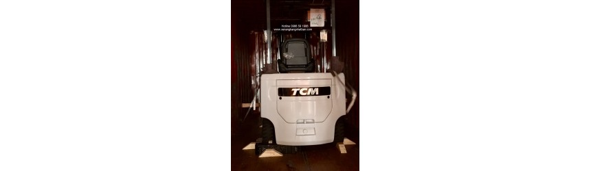 Xe nâng điện TCM 2.5 tấn FB25-8 tại nhà máy Thuốc Lá Ngân Sơn (KCN Tiên Sơn, Bắc Ninh)