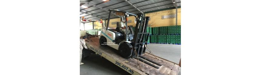 Xe nâng 3 tấn TCM FD30T3Z tại nhà máy Bia Hà Nội Thanh Hóa (Habeco Thanh Hóa)