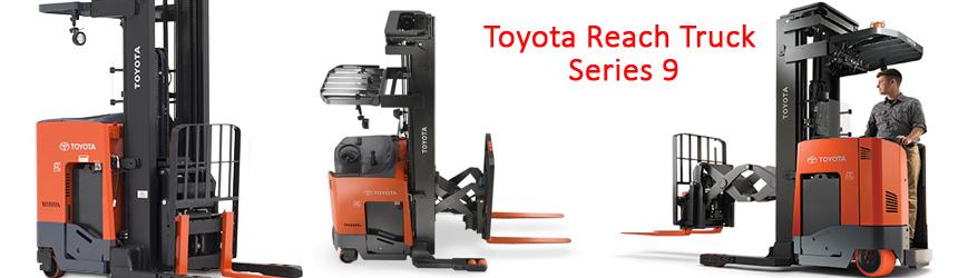 Xe nâng hàng điện đứng lái Toyota Reach Truck ra series 9