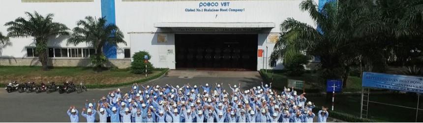 Xe nâng 20 tấn TCM tại Nhà máy Thép Không Gỉ POSCO VST (Hàn Quốc)