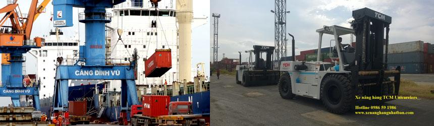 Xe nâng 2 tấn, điện ngồi lái (counter balance) tại Cảng SITC Đình Vũ (Hải Phòng)