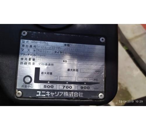 Xe nâng cũ 1.5 tấn - Model F1F1A15 - Nissan Unicarriers - 2014 - Sản xuất Nhật  Bản
