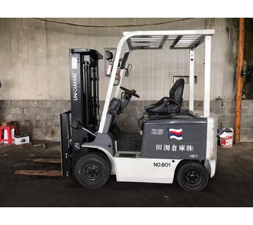 Xe nâng điện ngồi lái 2.5 tấn 3 mét TCM FB25-8 - 1001h - SX Nhật Bản 2013 - Kiểm đỏ T2/2019